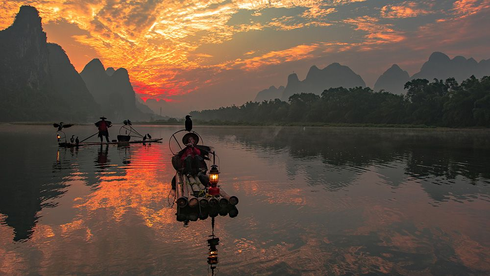 Guilin Cormorant Fishermen Photography