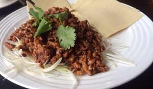 Wok Fried Julienne Beef with Bean Sauce